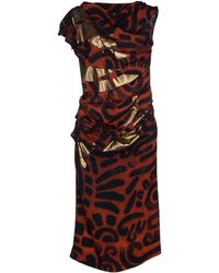 Vivienne Westwood Anglomania 3/4 Length Dress brown - Lyst