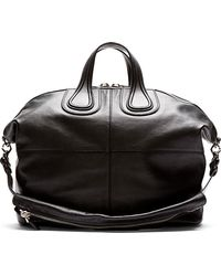 Givenchy Black Leather Nightingale Tote Bag - Lyst