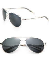 Oliver Peoples Benedict Aviator Sunglasses - Lyst