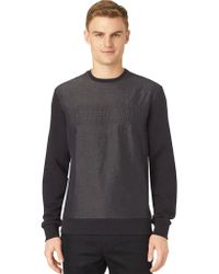 Calvin Klein Mix Media Crewneck Sweatshirt - Lyst