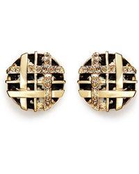 St. John - Swarovski Crystal Lattice Weave Earrings - Lyst