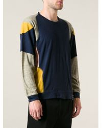 Henrik Vibskov Panelled Sweater - Lyst