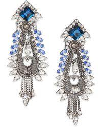DANNIJO Eli Crystal Drop Earrings - Lyst