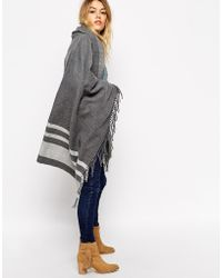 Asos Oversized Scarf With Stripes - Lyst