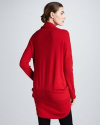 Donna Karan New York Midweight Cashmere Cocoon Jacket Red - Lyst