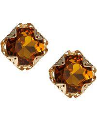 Asos Filigree Stone Earrings - Lyst