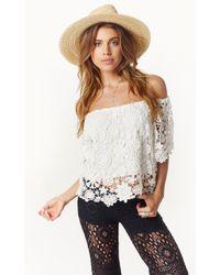 Nightcap Caribbean Crochet Crop Blouse - Lyst