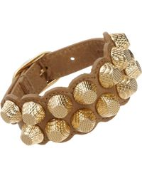 Balenciaga Arena Two-Row Giant All Stud Bracelet - Lyst