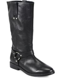 Joie Babson Leather Kneehigh Moto Boots - Lyst