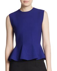 Antonio Berardi Knit Sleeveless Peplum Top - Lyst