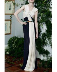 Vionnet | Long Bicolor Dress | Lyst
