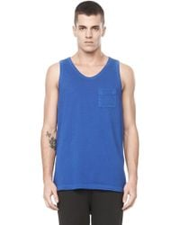 Alexander Wang Classic Low Neck Tank With Pocket - Lyst