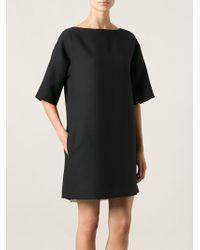Valentino Slash Neck Dress - Lyst