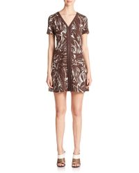Tory Burch Ponte Fit-&-Flare Dress brown - Lyst