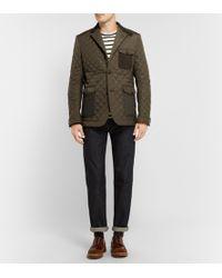 Junya Watanabe Panelled Patchwork Jacket - Lyst