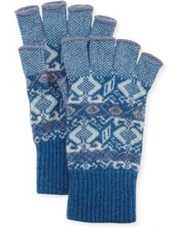 Brora - Cashmere Fingerless Gloves - Lyst