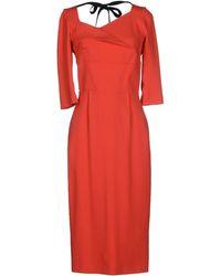 Roland Mouret 3/4 Length Dress - Lyst