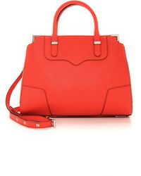 Rebecca Minkoff Amorous Satchel - Hot Orange - Lyst