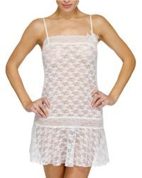 Hanky Panky Daisy Buchanan Chemise with Flower Decoration - Lyst