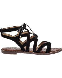 Sam Edelman | Gemma Suede Gladiator Sandals | Lyst