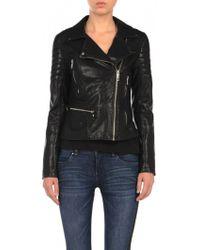Blank Vegan Leather Moto Jacket black - Lyst