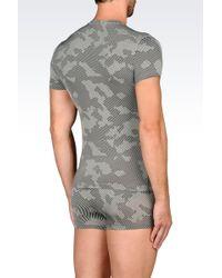 Emporio Armani Undershirt gray - Lyst