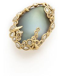 Alexis Bittar - Crystal Lace Cocktail Ring Labradorite - Lyst