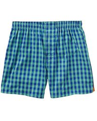 Gap Green Checkered Boxers - Lyst