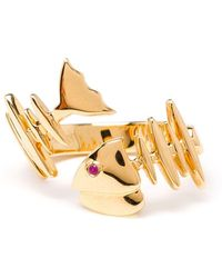 Kamushki - 18kt Gold And Sapphire Knuckle Ring - Lyst