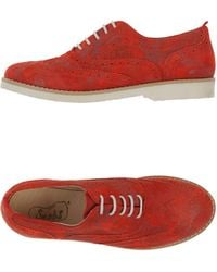 Snobs Lace-Up Shoes red - Lyst
