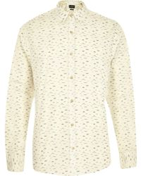 River Island Cream Only & Sons Moustache Print Shirt - Lyst