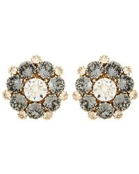 Dolce & Gabbana | Crystal-embellished Clip-on Earrings | Lyst