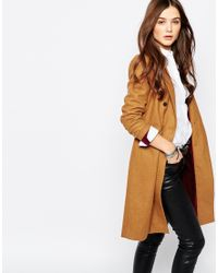 Pull&Bear - Double Breasted Camel Coat - Lyst