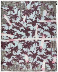 Yigal Azrouël Palm Print Scarf - Lyst