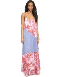 Charlie Jade - Maxi Dress - Pink/blue - Lyst