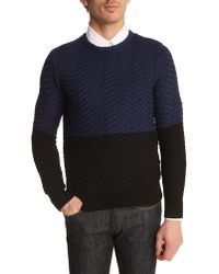 Carven Navy Sweater - Lyst