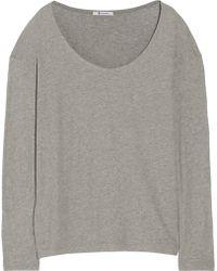T By Alexander Wang Slub Cotton-Jersey T-Shirt - Lyst
