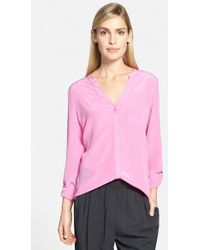 Trouvé Silk Blouse pink - Lyst