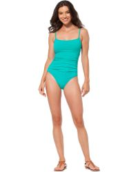 Anne Cole Solid Lingerie One-Piece - Lyst