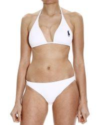 Ralph Lauren Blue Label | Costume Bikini Triangolo Big Pony | Lyst
