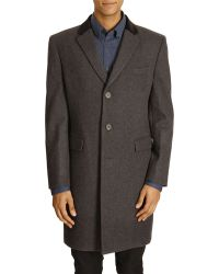 MELINDAGLOSS Anthracite Grey Wool And Cashmere Coat - Lyst