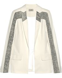 Preen Paneled Wool-twill and Jacqaurd Blazer - Lyst