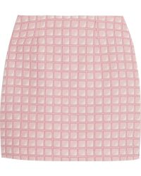 Alexander Lewis - Morningside Cotton-jacquard Mini Skirt - Lyst