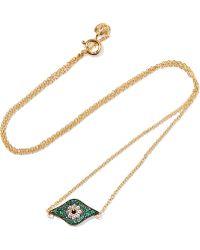 Iam By Ileana Makri - Kitten Eye Gold-plated Crystal Necklace - Lyst