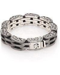 King Baby Studio   Sterling Silver Rotor Link Bracelet   Lyst