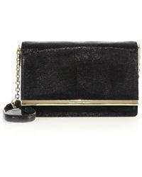 Diane von Furstenberg | Soiree Lizard-embossed Leather Shoulder Bag | Lyst