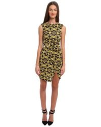 Versace Printed Jersey Dress W Rouching - Lyst