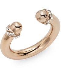 Vita Fede - Bulloni Crystal Bolt Ring/rose Goldtone - Lyst