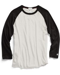 Todd Snyder X Champion Baseball T-Shirt In Vintage White And Black black - Lyst