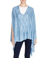 Moon & Meadow - Abstract Stripe Poncho - Lyst